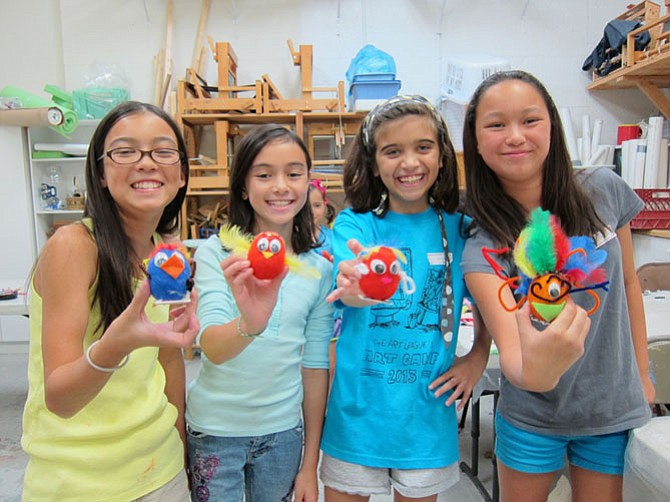 The Art League's Summer Art Camps in Alexandria includes Fiber Art Camp.