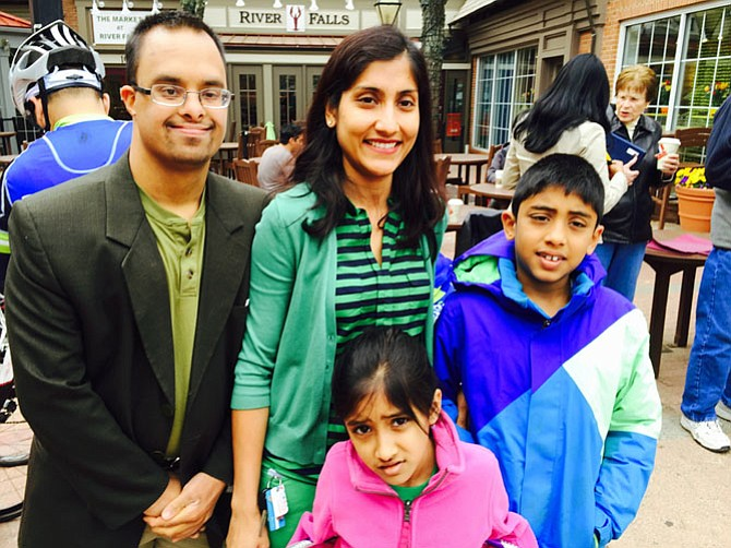 "Keshav Gupta and his family. Keshav Gupta can now can walk to the bus stop instead of having his family drive him there. ""I take the bus to go to my work at the Hebrew Home."""