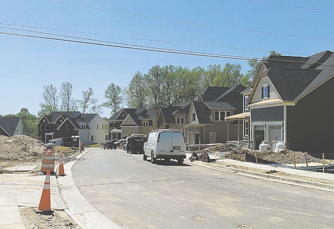 Homes are being sold in the new Gambrill Pointe subdivision.