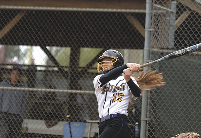 Lake Braddock catcher and Villanova commit Caroline Jones went 3-for-4 with a home run against Bishop O'Connell on April 25.