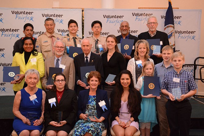 Volunteers from around the county were recognized April 24 at the Fairfax County Volunteer Service Awards.