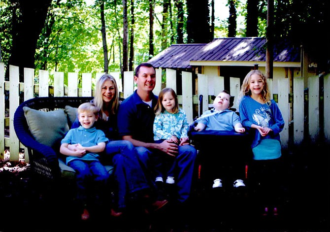 The Corey family - from left: Cullan, 6, parents Michelle and Niles, Kelli, 4, Patrick, 11, and Ryann May, 9.