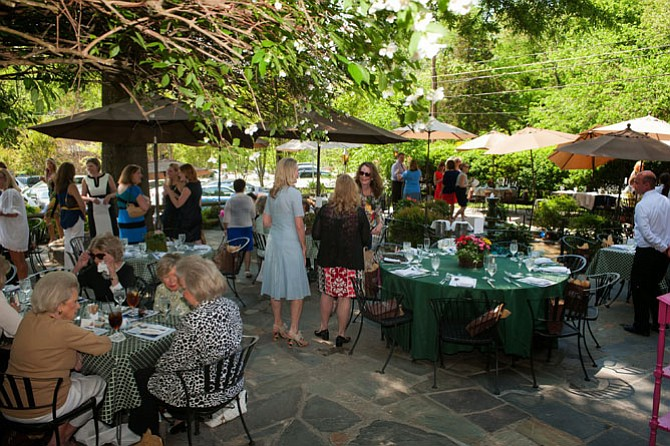 Last year's fashion show at Old Angler's Inn.