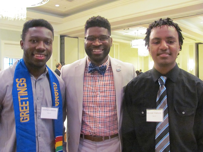 (From left) Stephen Amoako, James Williams and Kaleabe Tewolde. Amoako and Tewolde describe Williams as their mentor.