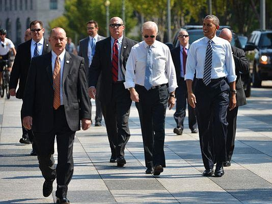Mount Vernon High School graduate Billy Davis (center, left of Vice President Joe Biden) is Special Agent in Charge for the U.S. Secret Service Vice Presidential Protective Division.