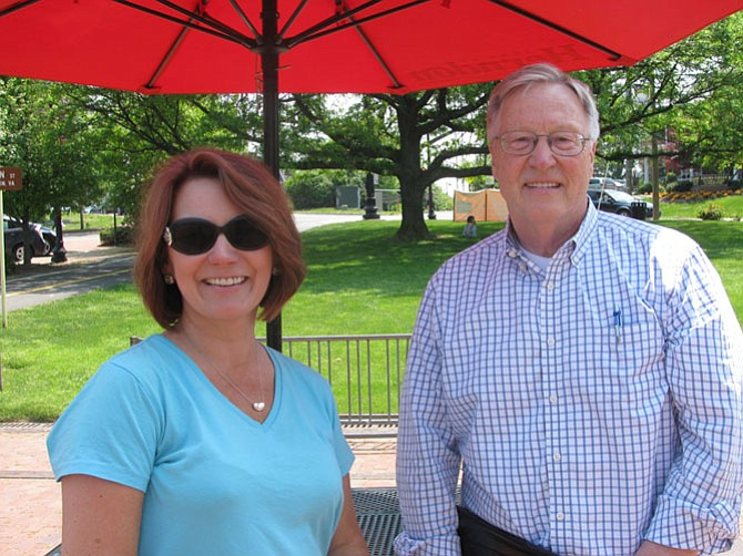Mayor Lisa Merkel and Director of Public Works Robert B. Boxer walk the downtown area, showing improvements and plans in the works.