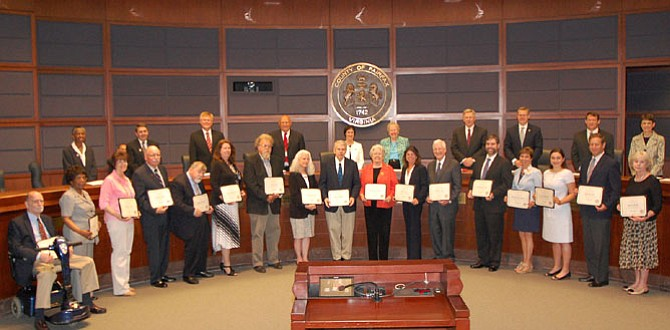 The Board of Supervisors named the 2015 Lords and Ladies Fairfax on Tuesday, May 12.