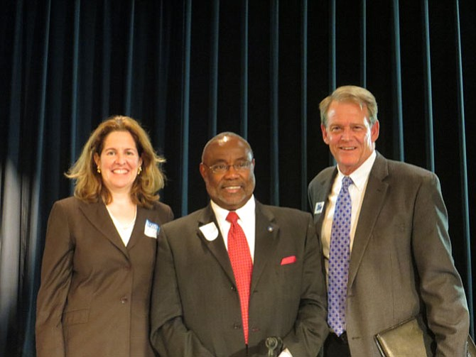 From left: Mayoral candidates Allison Silberberg, William Euillle and Kerry Donley.