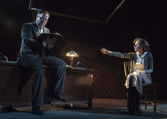 "Susan Lynskey and Michael Russotto star in ""The Letters"" at MetroStage in Alexandria. The show is running at MetroStage, 1201 N Royal St. through June 14. Tickets are $50-55. Visit ww.metrostage.org for more."