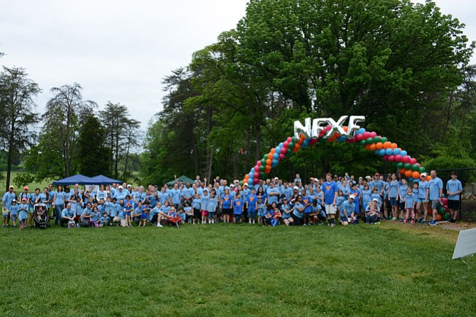 Community members prepare to embark on the third annual Fragile X Walk through Burke Lake Park May 17.