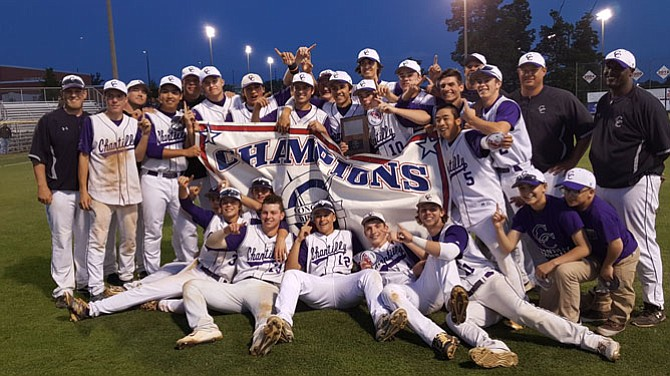 The Chantilly baseball team won the Conference 5 championship with a 2-1 victory over Oakton on May 22 at Westfield High School.