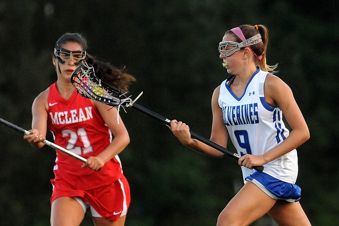 West Potomac senior Lizzie Wood scored six goals against McLean on Tuesday.
