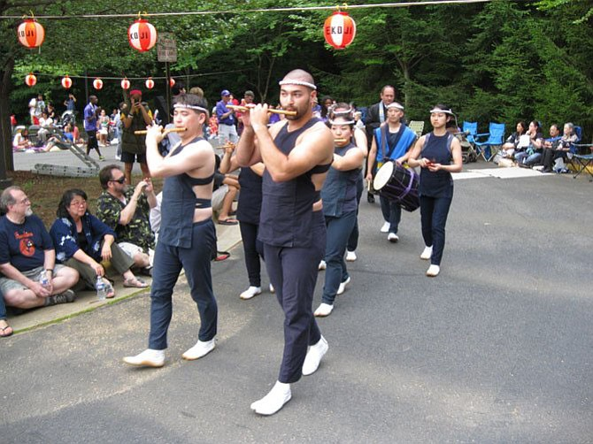 Members of the Nen Daiko perform taiko (drumming) at the 2013 Obon Festival at Ekoji Buddhist Temple in Fairfax Station. This year's festival will take place on July 11.