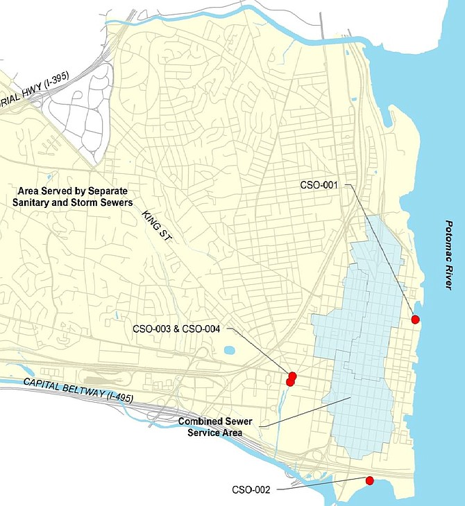 Overview of Alexandria's combined sewer system