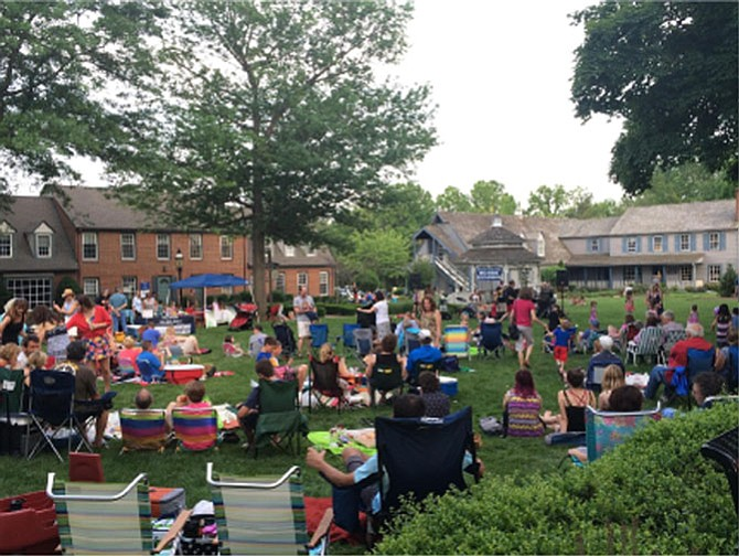 Large crowds gathered last Sunday on the Great Falls Village Centre Green to experience the first performance of the Concerts on the Green summer season.