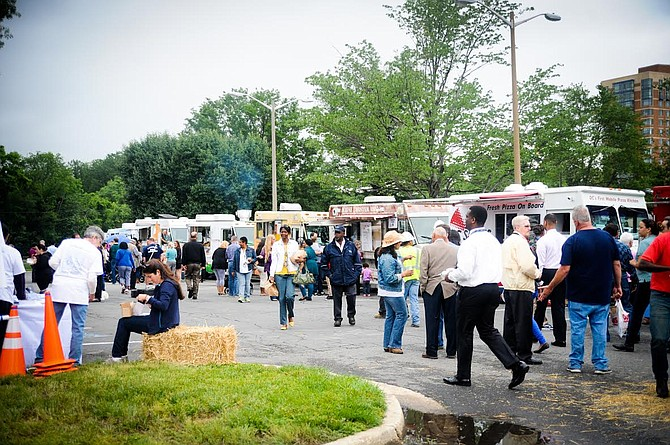The Food Truck Rodeo outside Southern Towers