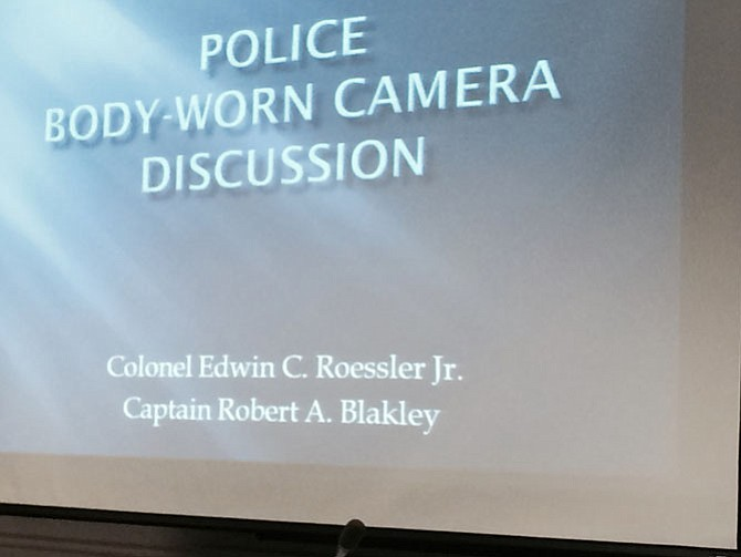 Presentation slide on body camera