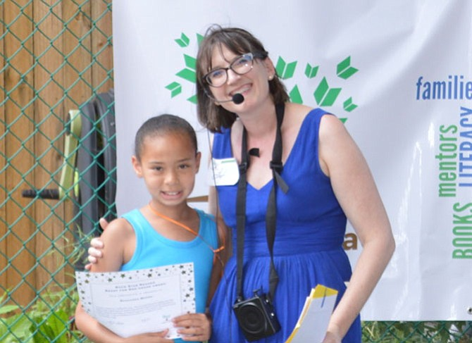 Rhae with her tutor/mentor Leigh Nida, ongoing executive director of  Wright to Read.