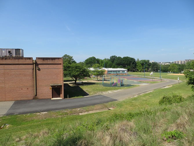 Patrick Henry Recreation Center (left) with Patrick Henry Elementary in the background.