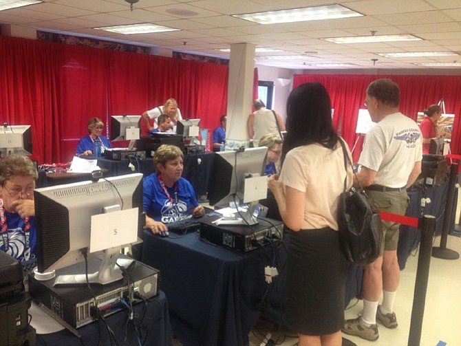Volunteers have been registering to assist at the 2015 Fairfax World Police and Fire Games at 1800 Cameron Glen Drive in Reston. More than 10,000 police and fire rescue personnel from all over the world will compete in the games, which run from June 26 to July 5 at locations in Fairfax County.