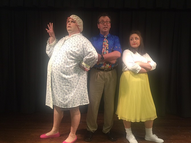 The Turnblad family: (From left) Jay Tilley (mom Edna), Brian Medley (dad Wilbur) and Anna Hicks (daughter Tracy).