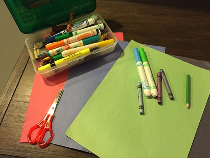 Art supplies and games that allow for creative play can be an important part of unstructured free time.