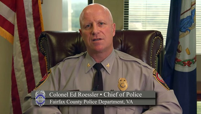 Fairfax County Chief of Police Col. Edwin C Roessler, Jr appears in a July 13, 2015 video explaining the timeline and investigative process surrounding the in-custody death of Natasha McKenna on Feb. 8, 2015.