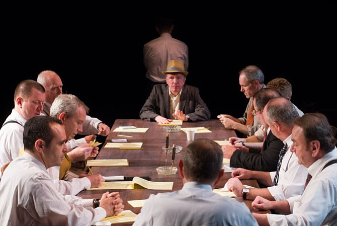 """Twelve Angry Men"" is now showing through Aug. 8 at Gunston Theatre Two in Arlington."