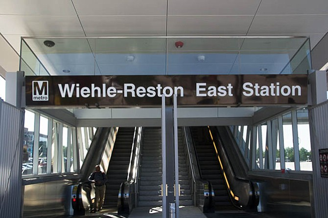 Wiehle-Reston East Station surpassed first-year ridership projections with nearly 9,200 boardings, or 18,400 weekday entries and exits last month.