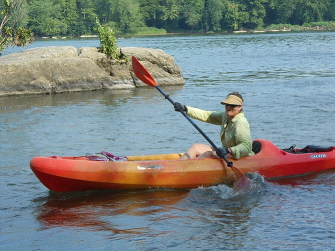 """Rhonda Glasmann likes """"great quality equipment and kayaks"""" available at Riverbend Park."""