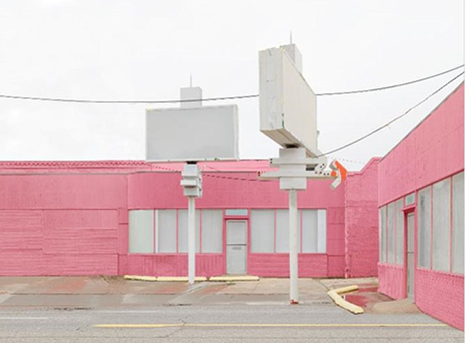 """Leigh Merrill's """"Cloud Seeding"""" exhibit (running through Sept. 7) examines the construction of desire, fiction and beauty in urban landscapes by digitally compositing thousands of images and videos into imaginary spaces. Admission is free. Visit www.torpedofactory.org."""