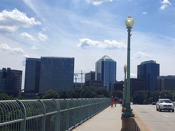 Rosslyn Skyline from the Francis Scott Key Bridge.