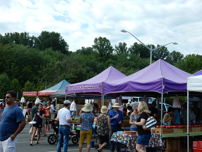 Burke Farmers Market: Between 10-11 a.m. the market place gets most crowded.