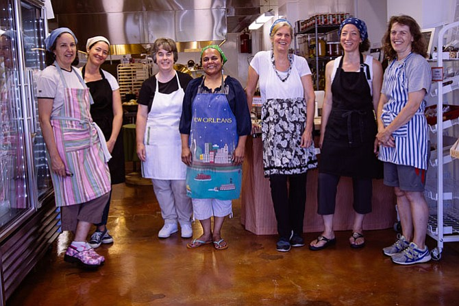 Meredith Haines, Jennifer Ashworth, Stephanie Shapiro, Deepa Patke (Aromatic Spice Blends), Deborah Gudelsky (Deborah Joy's Gluten Free), Katharine Mardirosian and Elizabeth Sheridan.