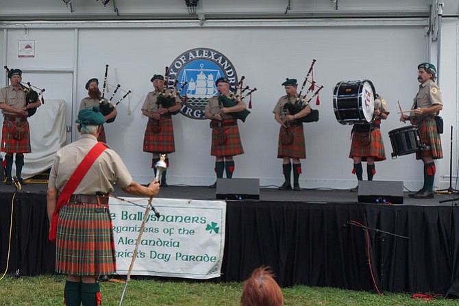 Members of the Washington Scottish Pipe Band perform Aug. 8 at the Ballyshaners Irish Festival in Waterfront Park. Proceeds from the festival support the city's St. Patrick's Day Parade in March.