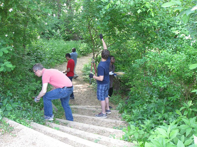 The Potomac Conservancy seeks volunteers to help in the cleanup of the C&O Canal National Park this Saturday, Aug. 22. Above, photos of volunteers from past cleanup events.