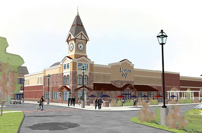 Artist's rendition of the Wegmans proposed for Westfields in Chantilly.