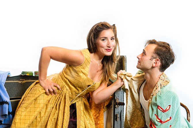"Emily Levey and Stephen Russell Murray in ""Kiss Me Kate"" at NextStop Theatre."