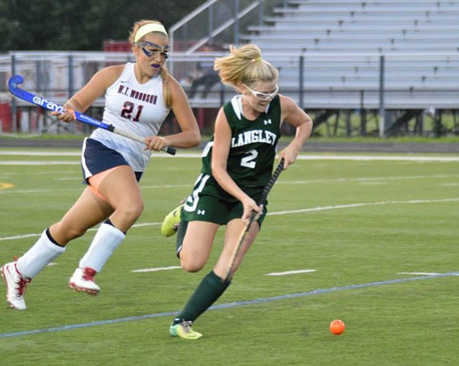 Morgan Kuligowski, seen during the 2014 season, is expected to be one of the Langley field hockey team's top offensive threats in 2015.