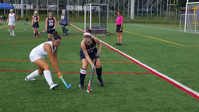 The Centreville field hockey team went 4-0 during the Blast ALS tournament at Lake Braddock Aug. 26-27.