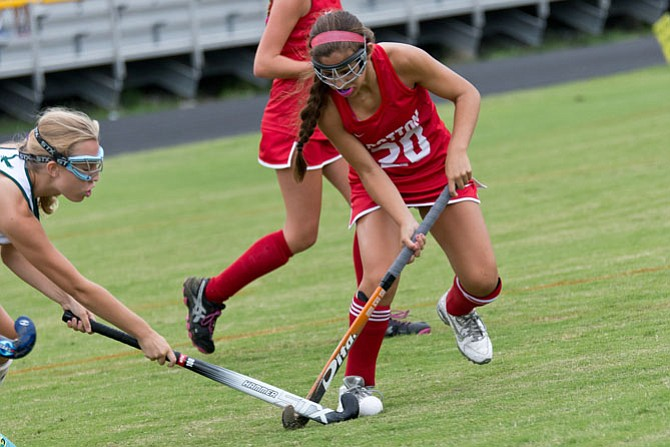 Lacey Rubin, seen last season, is one of 10 seniors on the 2015 Wootton field hockey team.