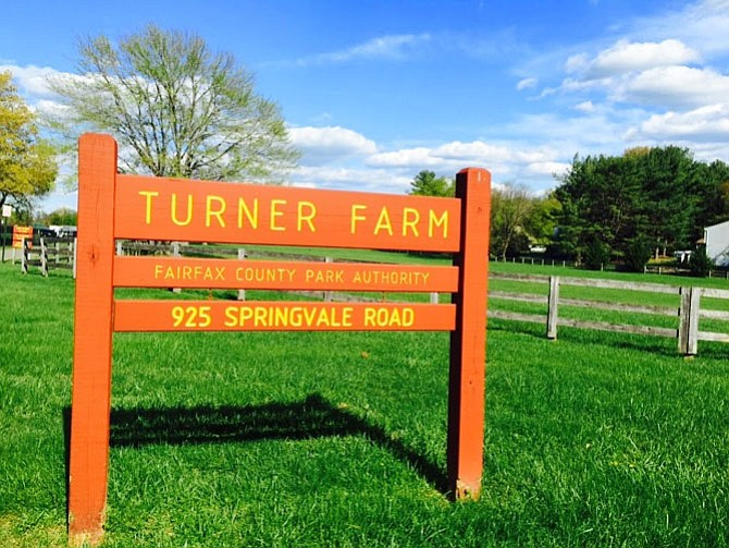 Sign at Turner Farm Park. Many people in Great Falls would like to see Turner Farmhouse one of the first properties to be considered for the Resident Curator Program.