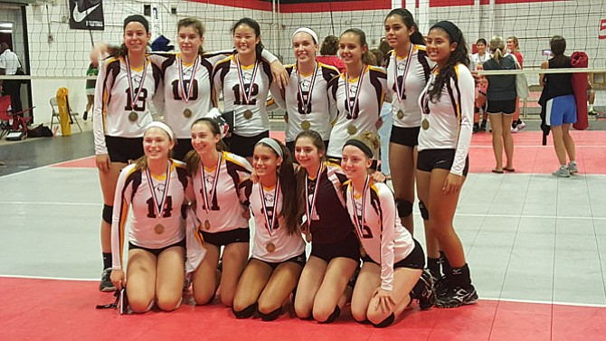The Oakton volleyball team won the NVVA Invitational on Aug. 29.
