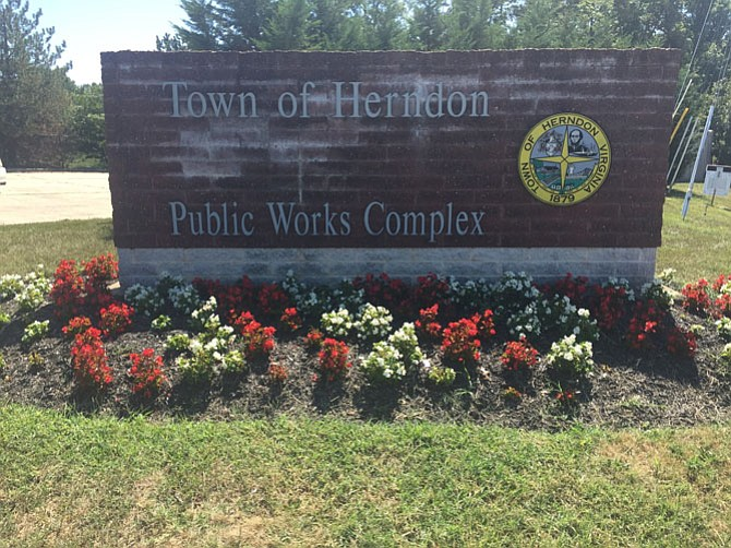 The Town of Herndon's Public Works Complex is right on the edge of Herndon's boundary.