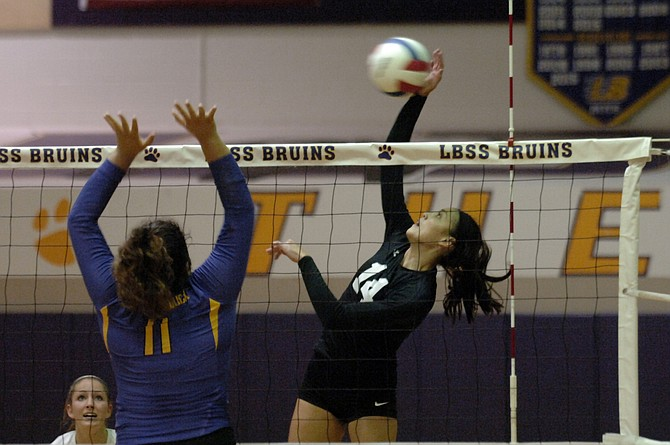 Chantilly junior Julia Recto tallied 21 kills during Thursday's 3-1 victory over Lake Braddock.