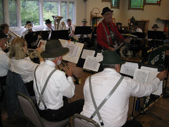 The Kings Park German Band performs during the 2015 Oktoberfest Volksmarch.