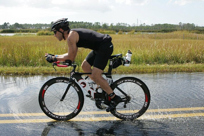 Dino Garcia's training enabled him to complete Ironman Maryland.
