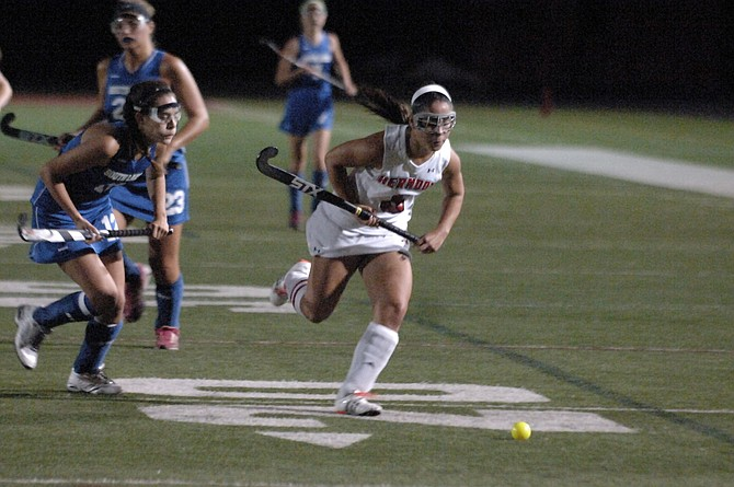 Herndon senior Seara Mainor scored three goals and had two assists during Thursday's 7-0 win over South Lakes.