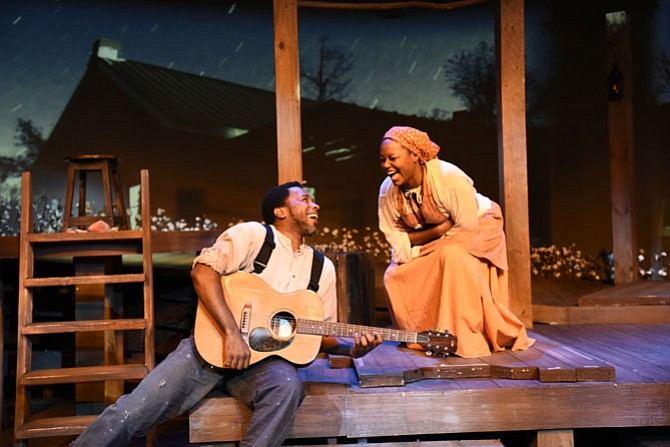 "Anthony Manough and Cynthia D. Barker star in ""Uprising"" at MetroStage in Alexandria now through Oct. 25."