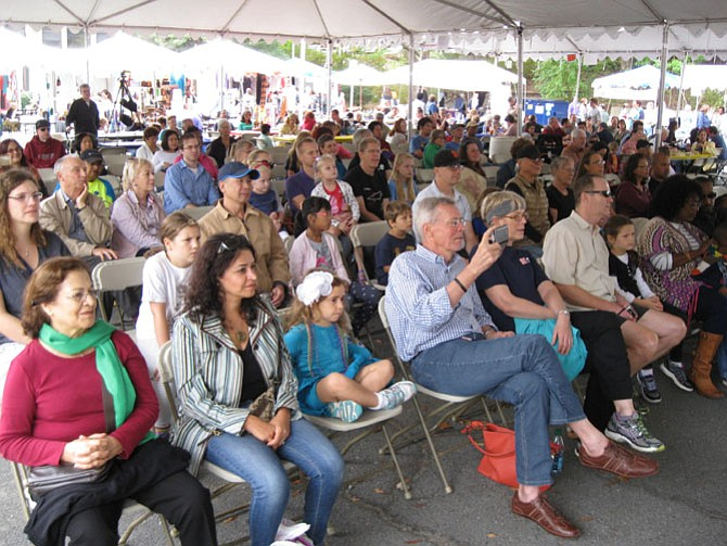 The crowd at the Global Stage during the Reston Multicultural Festival last year.